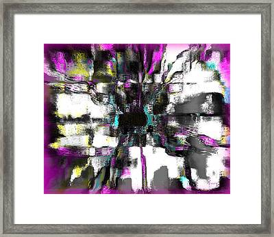Abstract A Flower  Framed Print by Fania Simon