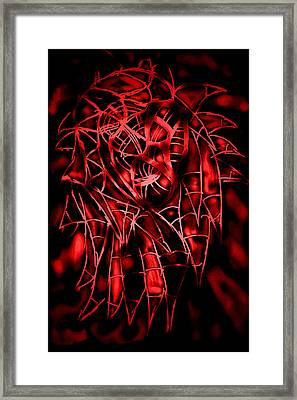 Abstract Alien Framed Print by Vedant Tailang
