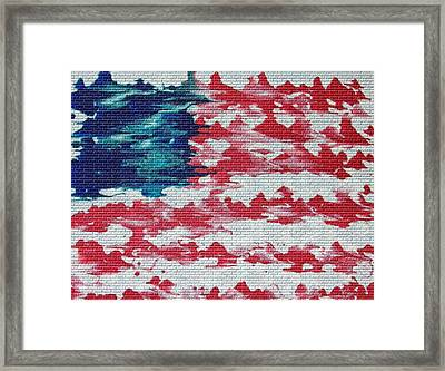 Abstract American Flag  Framed Print by Brian Roberts