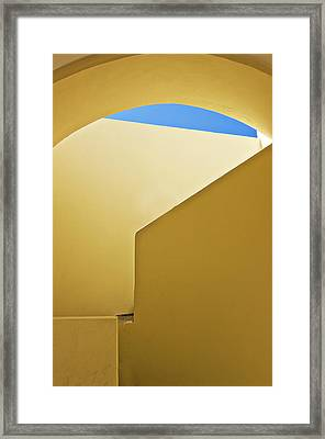 Abstract Architecture In Yellow Framed Print by Meirion Matthias