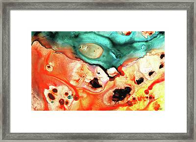 Abstract Art - Just Say When - Sharon Cummings Framed Print by Sharon Cummings