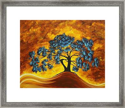 Abstract Art Original Landscape Painting Dreaming In Color By Madartmadart Framed Print by Megan Duncanson