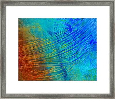 Abstract Art  Painting Freefall By Ann Powell Framed Print by Ann Powell
