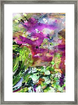 Abstract Arti 1 By Ginette Framed Print by Ginette Callaway