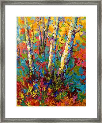 Abstract Autumn II Framed Print by Marion Rose