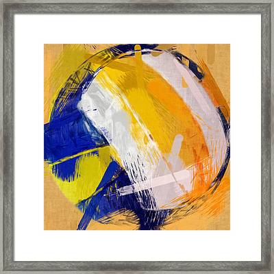 Abstract Beach Volleyball Framed Print by David G Paul