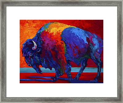 Abstract Bison Framed Print by Marion Rose