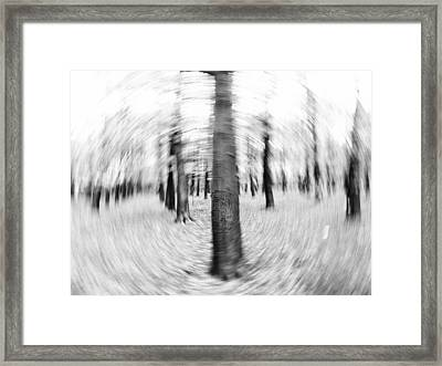 Abstract Black And White Nature Landscape Art Work Photograph Framed Print by Artecco Fine Art Photography
