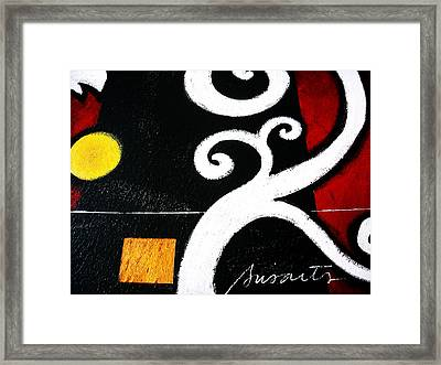 Abstract Blooms Framed Print by Pristine Cartera Turkus