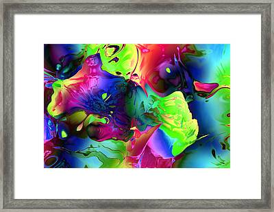 Abstract-blue Flowers Framed Print by Patricia Motley