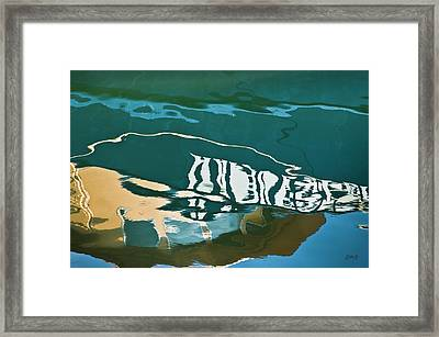 Abstract Boat Reflection Framed Print by Dave Gordon