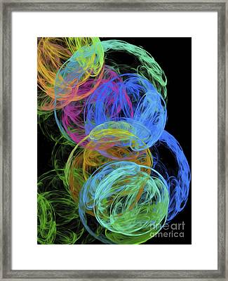 Abstract Bubbles Framed Print by Andee Design