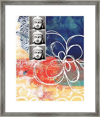 Abstract Buddha Framed Print by Linda Woods
