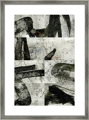 Abstract Calligraphy Collage 1 Framed Print by Carol Leigh