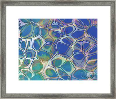 Abstract Cells 5 Framed Print by Edward Fielding