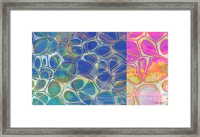 Abstract Cells 6 Framed Print by Edward Fielding