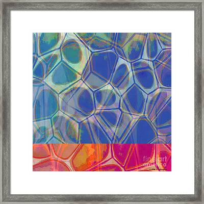 Cells 7 - Abstract Painting Framed Print by Edward Fielding