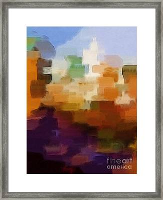 Abstract Cityscape Framed Print by Lutz Baar