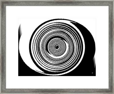 Abstract Clock Spring Framed Print by Will Borden