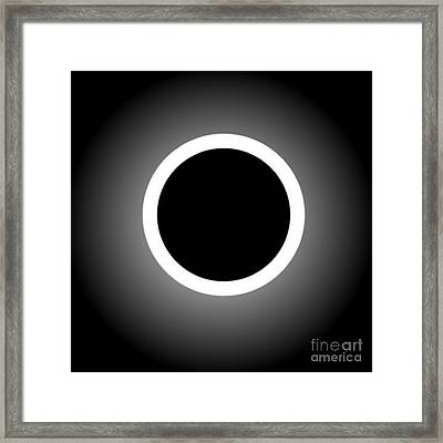 Abstract Composition - Perfect Eclipse  Framed Print by Celestial Images