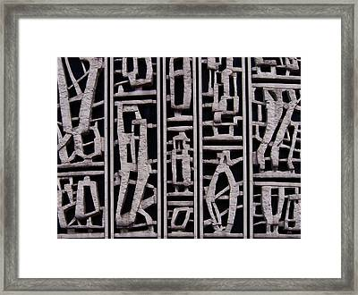 Abstract Concrete Framed Print by Philip Openshaw