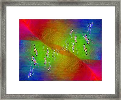 Abstract Cubed 355 Framed Print by Tim Allen