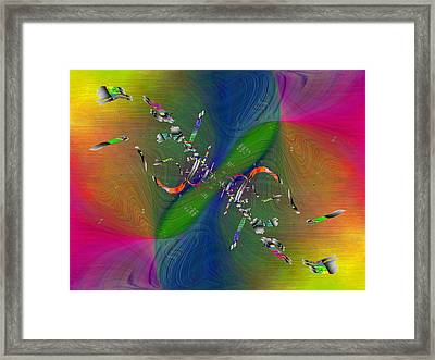 Abstract Cubed 356 Framed Print by Tim Allen