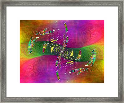 Abstract Cubed 357 Framed Print by Tim Allen