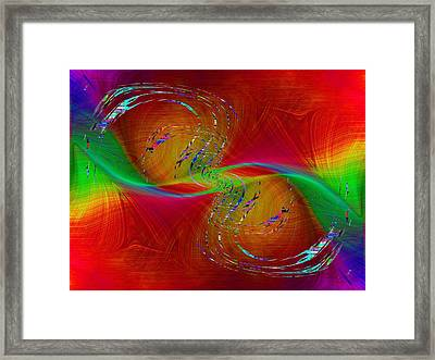 Abstract Cubed 358 Framed Print by Tim Allen