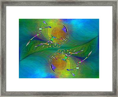 Abstract Cubed 359 Framed Print by Tim Allen