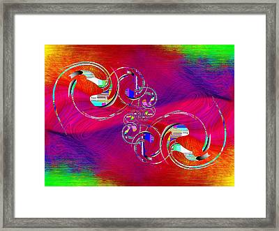 Abstract Cubed 360 Framed Print by Tim Allen
