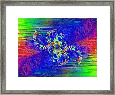Abstract Cubed 362 Framed Print by Tim Allen