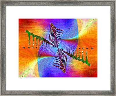 Abstract Cubed 372 Framed Print by Tim Allen