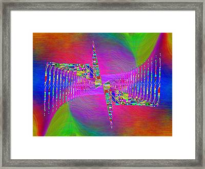 Abstract Cubed 373 Framed Print by Tim Allen