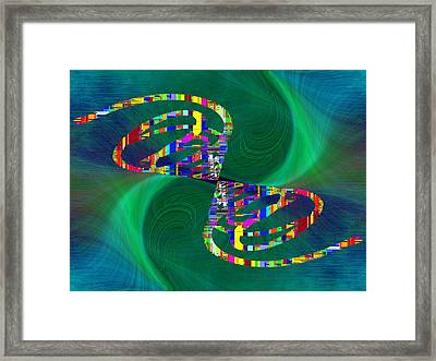 Abstract Cubed 374 Framed Print by Tim Allen