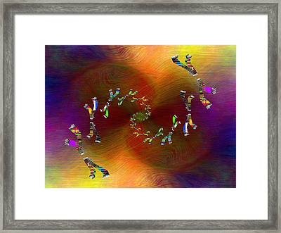 Abstract Cubed 375 Framed Print by Tim Allen