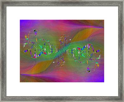 Abstract Cubed 376 Framed Print by Tim Allen