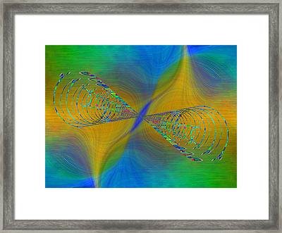 Abstract Cubed 380 Framed Print by Tim Allen