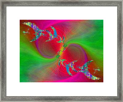 Abstract Cubed 383 Framed Print by Tim Allen