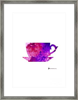 Abstract Cup Of Tea Silhouette Framed Print by Joanna Szmerdt