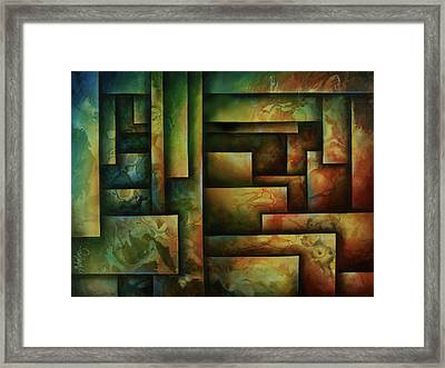 Abstract Design 102 Framed Print by Michael Lang