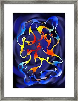 Abstract Digital Art - Geoceonom V3 Framed Print by Cersatti