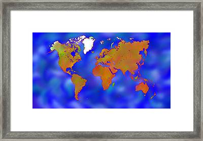 Abstract Digital Art - Mappodevorio V2 Framed Print by Cersatti
