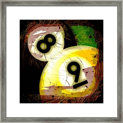 Abstract Eight And Nine Billiard Balls Framed Print by David G Paul