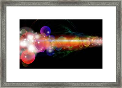 Abstract Energy 1 Framed Print by Les Cunliffe