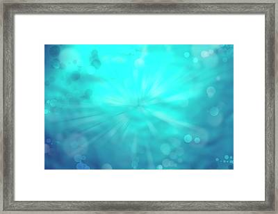 Abstract Explosion Framed Print by Les Cunliffe