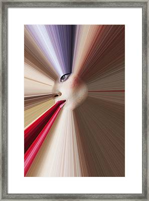 Abstract Face Framed Print by Garry Gay