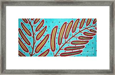 Abstract Ferns Framed Print by Karla Gerard