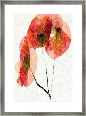 Abstract Flower 0718 Framed Print by Rafael Salazar