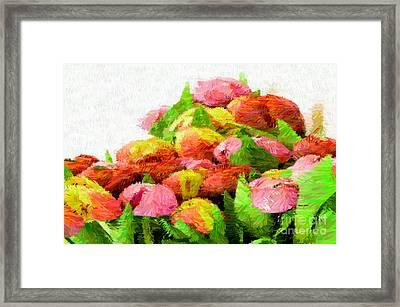Abstract Flower 0727 Framed Print by Rafael Salazar